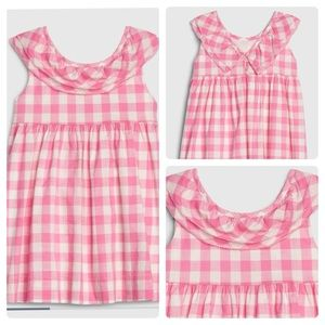 Baby GAP pink and white gingham dress size 12-18